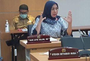 Nur Afni Sajim, anggota Komisi B DPRD DKI.